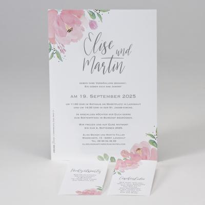 Hochzeitskarte mit Blumenmotiv (108.022)