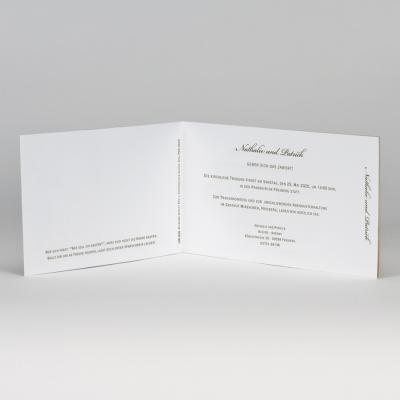 Fotohochzeitskarte im Ecolook mit Spitze (108.030)