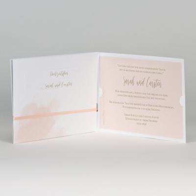 Aquareller Taschenlook mit goldenen Konfettis  (108.060)