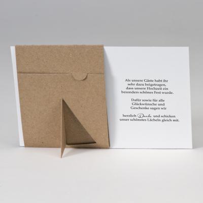 Fotodanksagungskarte mit Passepartout aus Kraftpapier  (128.928)