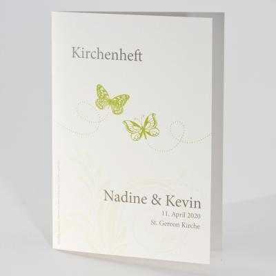 Kirchenheft mit grünen Schmetterlingen (A5-Format)  (141.069)