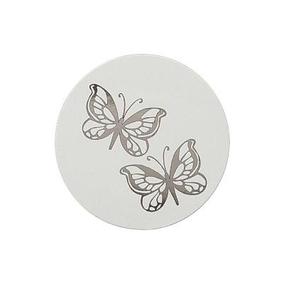 Verschlußsiegel mit silbernen Schmetterlingen (173.005)