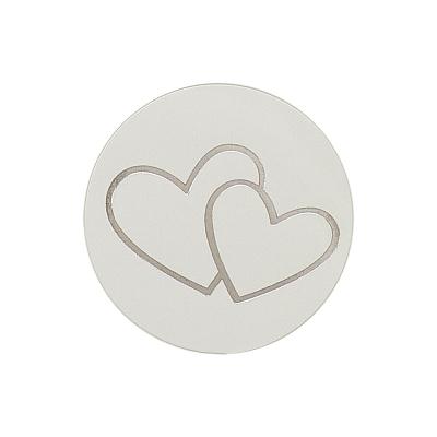 Verschlußsiegel mit silbernen Herzen (173.010)