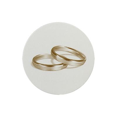 Selbstklebender Verschlusssiegel mit goldenen Ringen  (173.102)