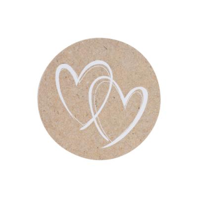 Naturbrauner Verschlußsiegel mit weißen Herzen (176.102)