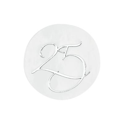 """Verschlußsiegel mit """"25"""" in Silber (176.107)"""