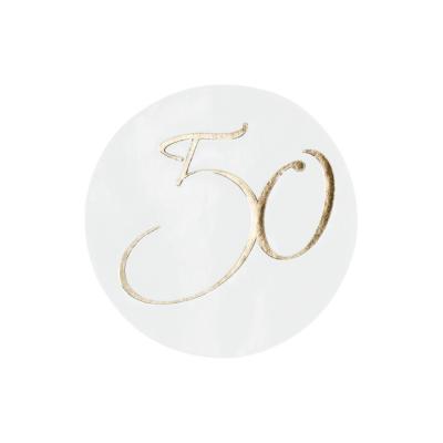 """Verschlußsiegel mit """"50"""" in Gold (176.108)"""