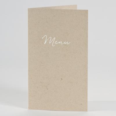 Menükarte aus ökologischem Karton (206.037)