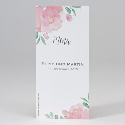 Menükarte mit Blumenmotiv  (208.022)