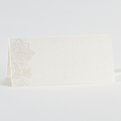 Perlmuttfarbene Tischkarte  (226.115)