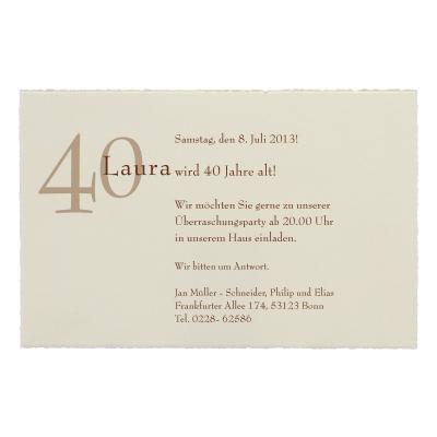 Cremefarbige Einzelkarte aus Büttenpapier (303.053)