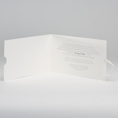 Blanko rechteckige Transparent-Umhüllung und cremefarbige Einsteckkarte (309.056JUB)