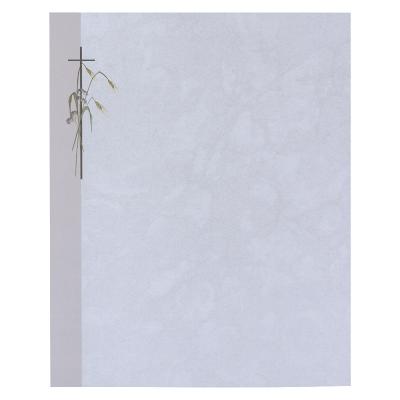 Doppelter Trauerbrief mit Kreuz und Kornähre (633.002)