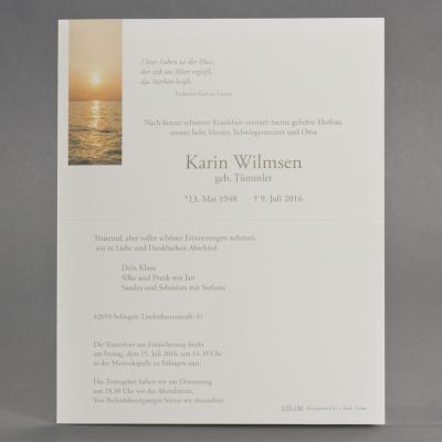 Doppelter Trauerbrief mit Sonnenuntergang über Meereshorizont (633.146)