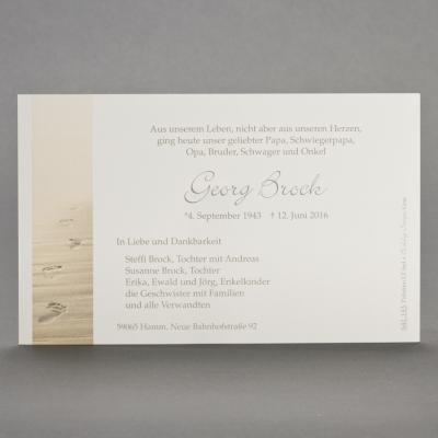 Einzelkarte mit Spuren im Sand (641.143)
