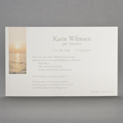Einzelkarte mit Sonnenuntergang über Meereshorizont (641.146)