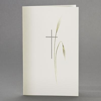 Doppelkarte mit Schattierung, sowie Kreuz mit Ähren (642.149)