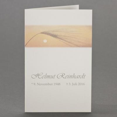 Trauerbild mit Korn im Sonnenuntergang zu 1-Nutzen (650.145)