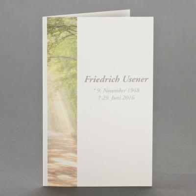 Trauerbild mit Waldlichtung zu 1-Nutzen (650.148)