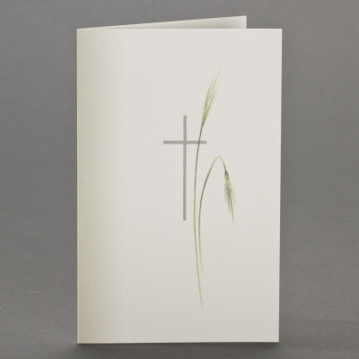 Trauerbild mit Schattierung, sowie Kreuz mit Ähren  (650.149)