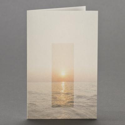 Trauerbild mit Sonnenuntergang über Meereshorizont zu 2-Nutzen (651.146)