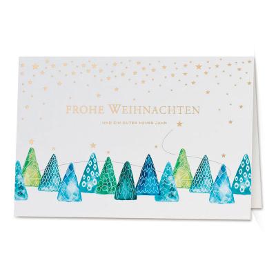 Weihnachtskarte mit trendiger Tannenbaumparade (847.065)