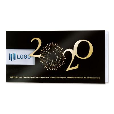 Firmen Neujahrskarte 2020 mit Feuerwerk und Fensterstanzung (849.021)