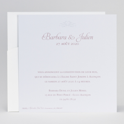 Pochette mariage cœurs  (106.001)