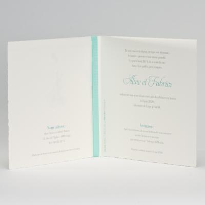 Invitation chic au ruban menthe (106.106)