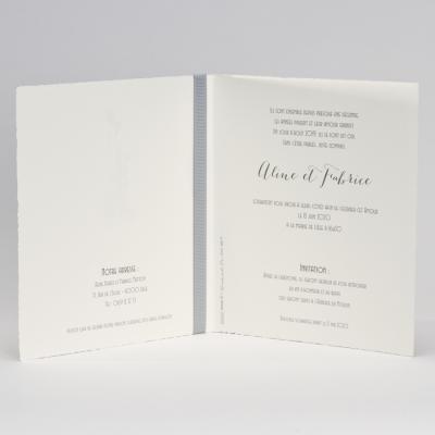 Invitation chic au ruban gris (106.107)