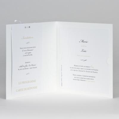 Faire-part blanc OUI avec photo (108.911)