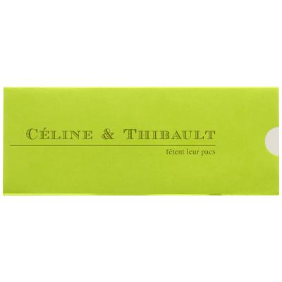 Carte triptyque calque vert citron (313.002)