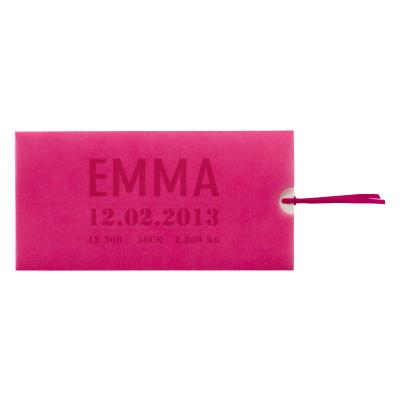 Carte pochette calque rose (313.031)