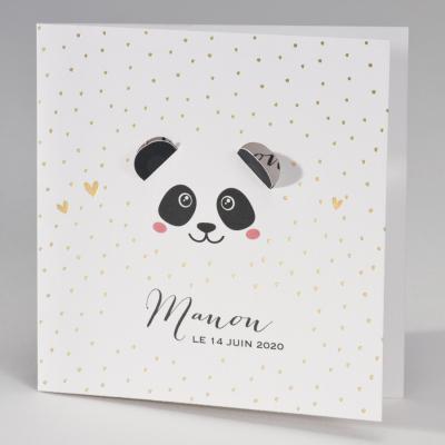 Tête de panda et petits cœurs  (507.009)
