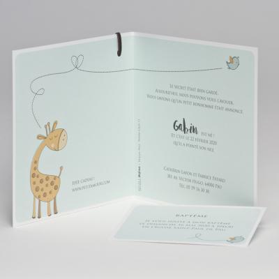 Carte naissance girafe rigolotte (507.013)