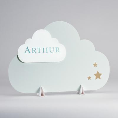 Présentoir nuage vert menthe (546.003)