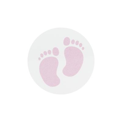 Timbre de scellage pieds bébé roses  (572.107)