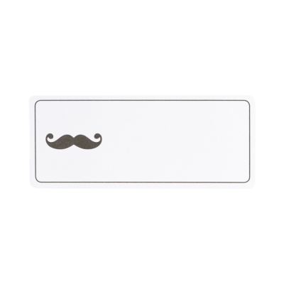 Etiquette adresse moustache (575.208)