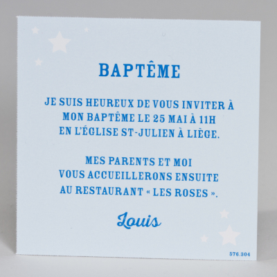 Carte étoilée bleue (576.304)