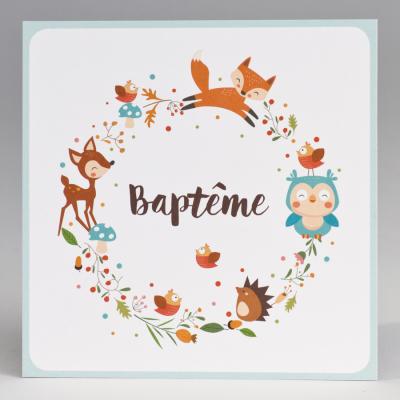 Carte baptême animaux de la forêt (577.392)