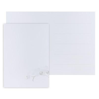 Pages de garde orchidée blanche  (610.122)