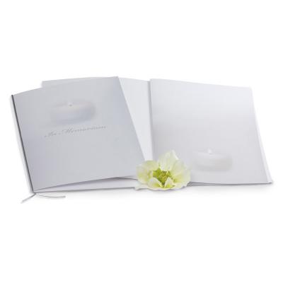 Registre condoléances classique bougie   (610.129)
