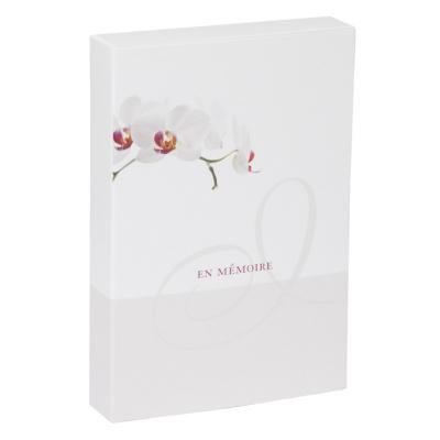 Boîte deuil orchidée petit format  (610.141)
