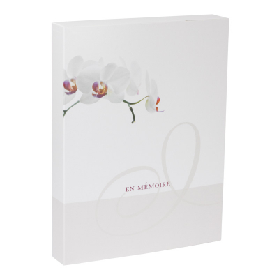 Boîte deuil orchidée grand format  (610.142)