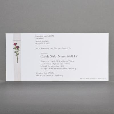 Carte longue roses rouges  (644.156)