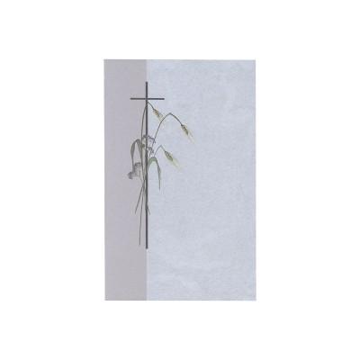Souvenir mortuaire religieux épis de blé et fleurs   (654.002)