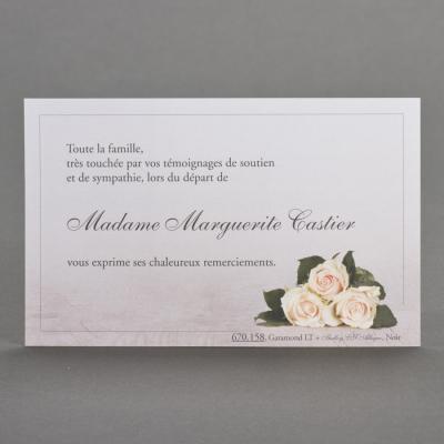 Superbe remerciement trio de roses  (670.158)