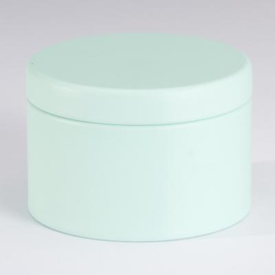 Charmante boîte métallique couleur menthe (781.102)