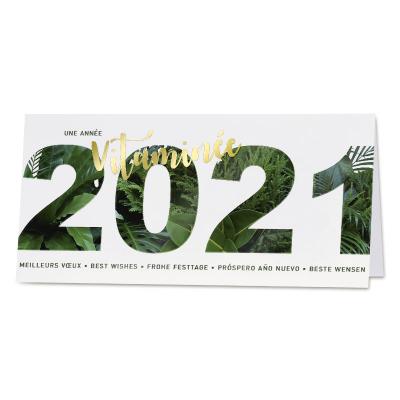 Carte de vœux entreprise 2021 effet jungle (840.058)