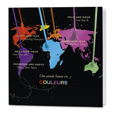 Carte de vœux entreprise  le monde haut en couleurs (840.113)